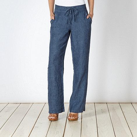 RJR.John Rocha - Designer navy linen trousers