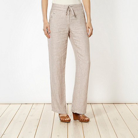 RJR.John Rocha - Designer natural textured linen trousers
