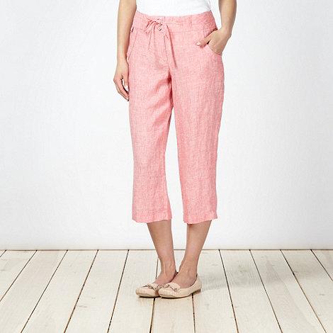 RJR.John Rocha - Designer rose cropped linen trousers