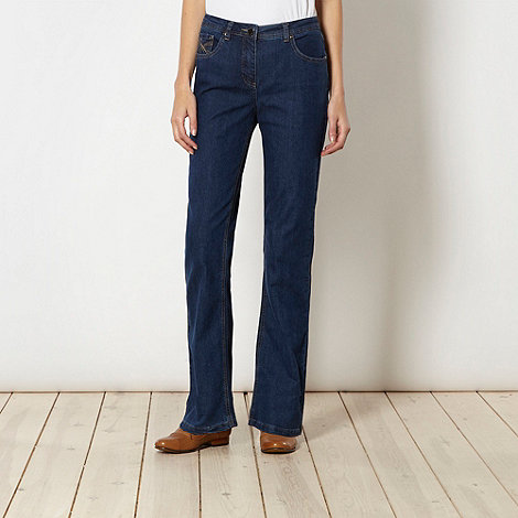 RJR.John Rocha - Designer shape enhancing dark blue bootcut jeans