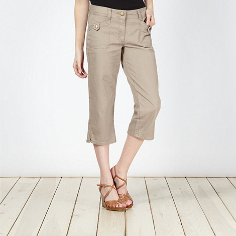 RJR.John Rocha - Designer natural cropped trousers