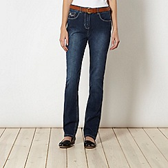 RJR.John Rocha - Designer shape enhancing dark blue bootcut jeans with belt