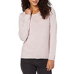 RJR.John Rocha - Designer pale pink bobble detail knitted jumper