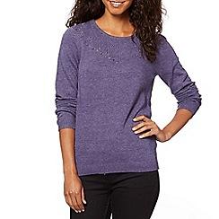 RJR.John Rocha - Designer purple bobble detail knitted jumper