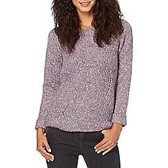RJR.John Rocha - Designer purple wavy knit jumper