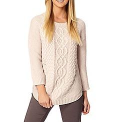 RJR.John Rocha - Designer pale pink mixed knit jumper