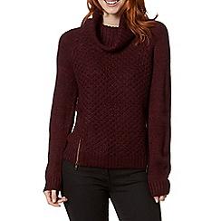 RJR.John Rocha - Designer dark pink chunky knit jumper