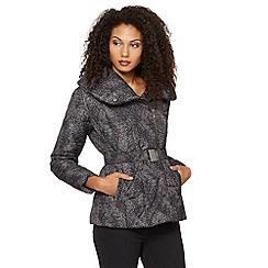 RJR.John Rocha - Designer black blossom print padded jacket