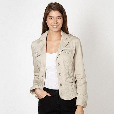 RJR.John Rocha - Designer beige twill blazer