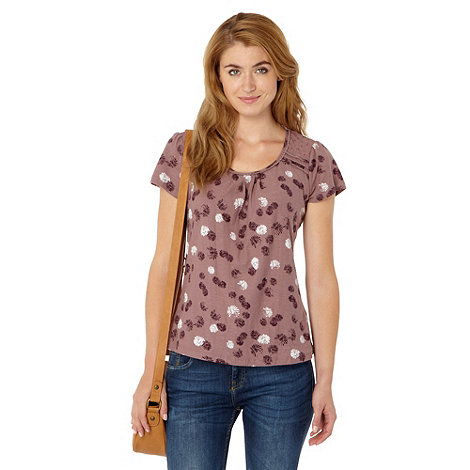 RJR.John Rocha - Designer pale pink daisy printed organic cotton t-shirt