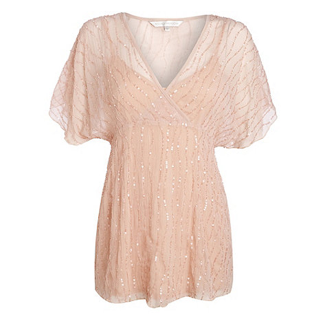 RJR.John Rocha - Pale peach sequin tunic