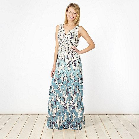 RJR.John Rocha - Designer turquoise crochet neck maxi dress
