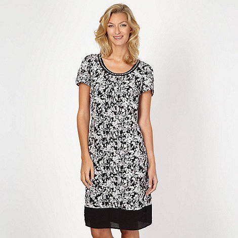 RJR.John Rocha - Design black floral embellished shift dress