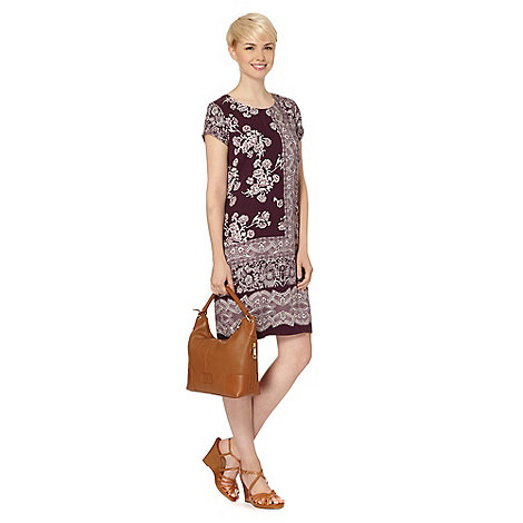 RJR.John Rocha - Designer plum placement floral dress