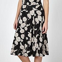 RJR.John Rocha - Designer black floral wrap jersey skirt