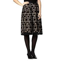 RJR.John Rocha - Designer black floral lace skirt