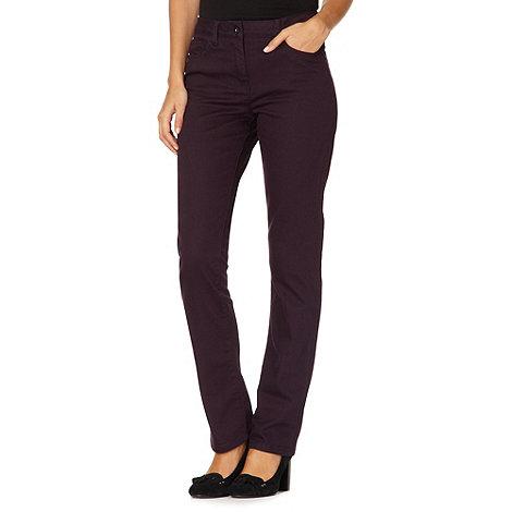 RJR.John Rocha - Designer plum +Elsa+ straight leg twill jeans