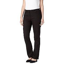 RJR.John Rocha - Designer black 'Elsa' straight leg twill jeans