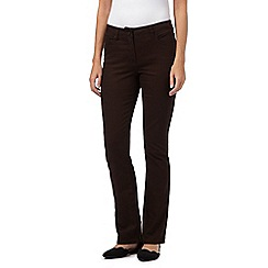 RJR.John Rocha - Brown shape enhancing 'Elsa' straight leg jeans