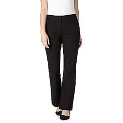 RJR.John Rocha - Designer black 'Jenna' twill slim bootcut jeans