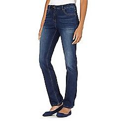 RJR.John Rocha - Designer mid blue 'Elsa' shape enhancing straight leg jeans