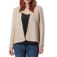RJR.John Rocha - Designer natural ribbed edge to edge cardigan