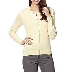 RJR.John Rocha - Designer light yellow bobble cardigan