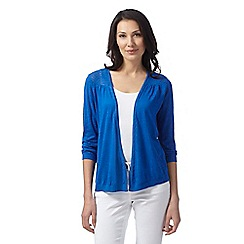 RJR.John Rocha - Designer bright blue pointelle knit cardigan