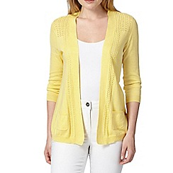 RJR.John Rocha - Designer yellow edge to edge cardigan