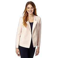 RJR.John Rocha - Designer light pink textured biker jacket