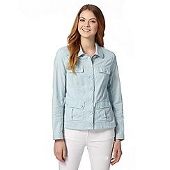RJR.John Rocha - Designer light turquoise linen jacket
