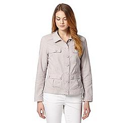 RJR.John Rocha - Designer pale grey linen blend jacket