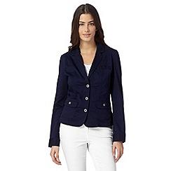 RJR.John Rocha - Designer navy cotton blend blazer