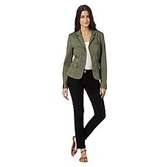RJR.John Rocha - Designer khaki cotton blend twill blazer