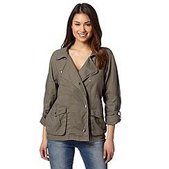 RJR.John Rocha - Designer khaki linen blend utility jacket