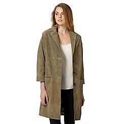 RJR.John Rocha - Designer khaki suede jacket