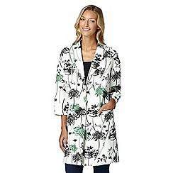 RJR.John Rocha - Designer ivory floral duster coat