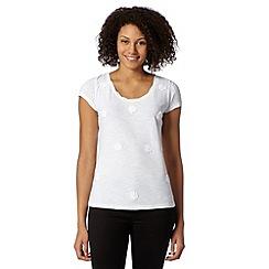 RJR.John Rocha - Designer white organic applique t-shirt