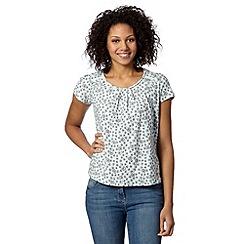 RJR.John Rocha - Designer aqua organic cotton floral t-shirt