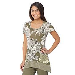 RJR.John Rocha - Designer khaki dotty floral tunic top