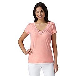 RJR.John Rocha - Designer pink circle lace top