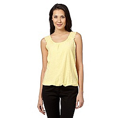 RJR.John Rocha - Designer yellow lace shoulder bubble top