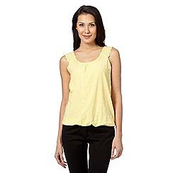 RJR.John Rocha - Designer yellow lace shoulder bubble top