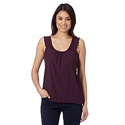 RJR.John Rocha - Designer dark purple lace shoulder top