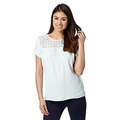 RJR.John Rocha - Designer pale blue lace yoke top