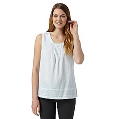 RJR.John Rocha - Designer light turquoise linen blend sequin top