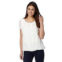 RJR.John Rocha - Designer ivory textured lace bubble top