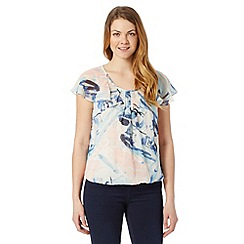 RJR.John Rocha - Designer blue abstract print bubble top