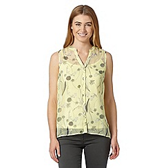 RJR.John Rocha - Designer light yellow 2-in-1 dandelion blouse and camisole