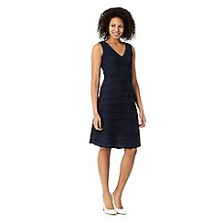 RJR.John Rocha - Designer navy jersey ripple dress
